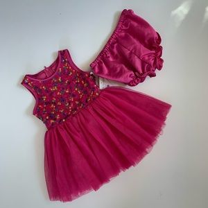 Pippa & Julie Sequin tulle Dress 18 Months Pink